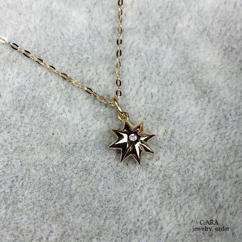 K18ダイヤモンドペンダントセット(チェーン40~47cm)