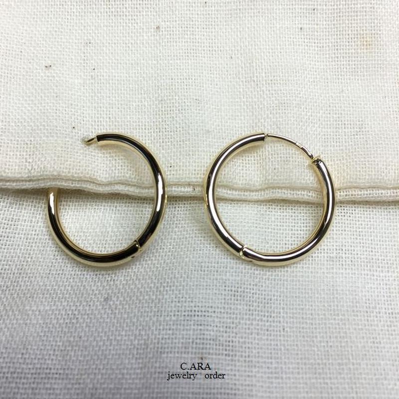 K18 ピアス 1セット(両耳分)20ミリタイプ