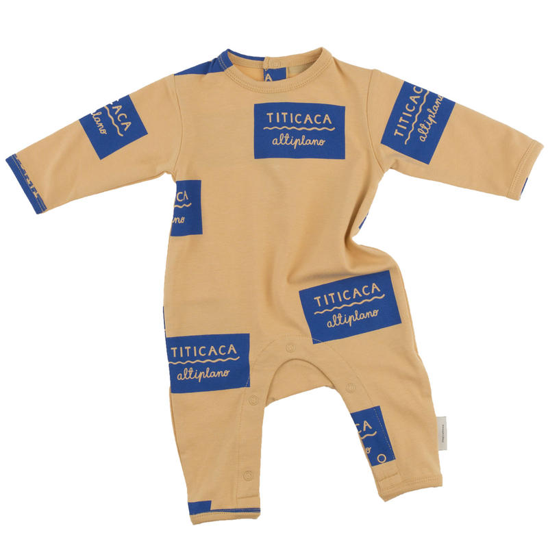 tinycottons titicaca badge onepiece(nude/blue)