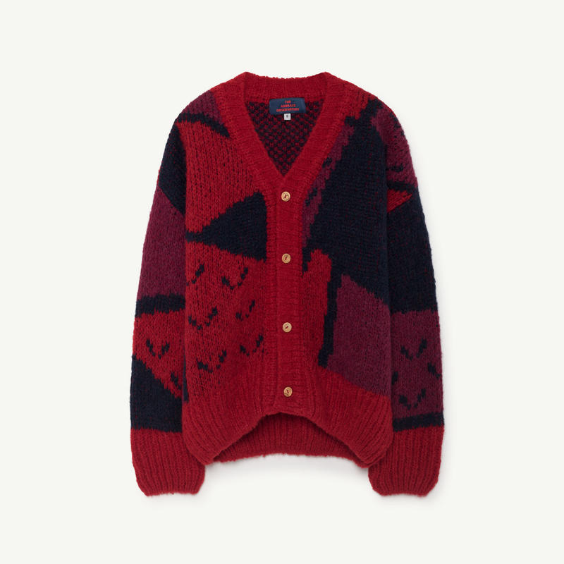 the animals observatory   arty peasant kids cardigan
