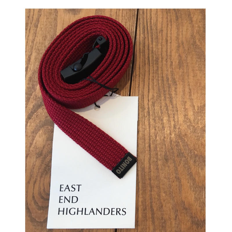 EAST END HIGLANDERS  Belt(wine red)