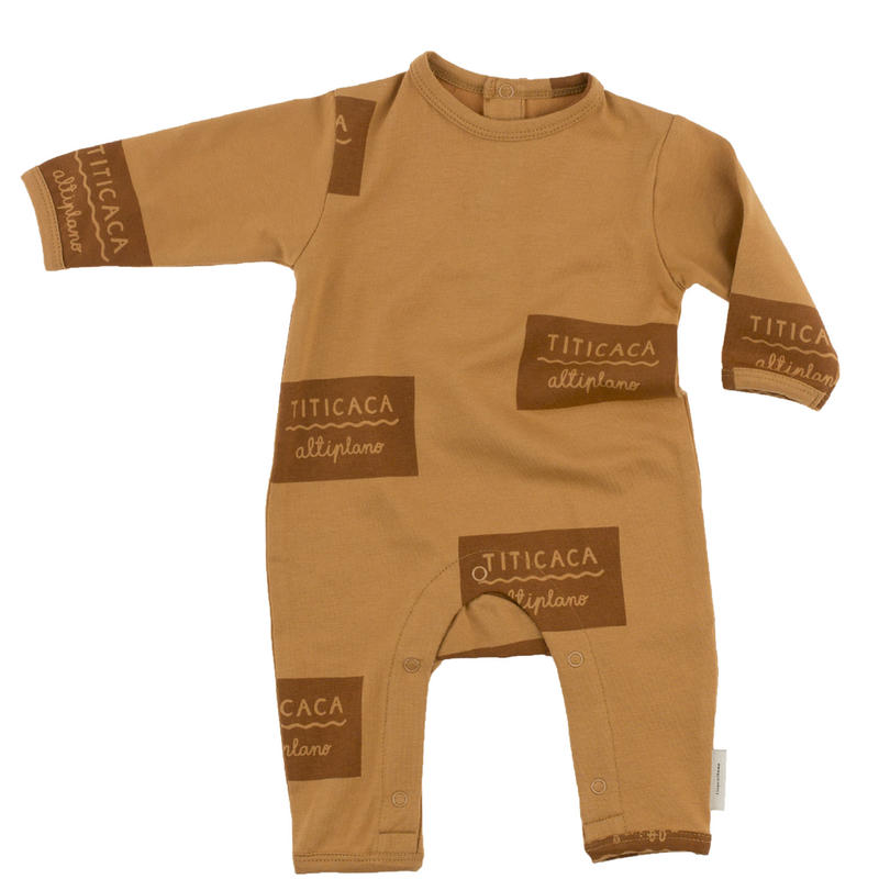 tinycottons titicaca badge onepiece(light brown/brown)