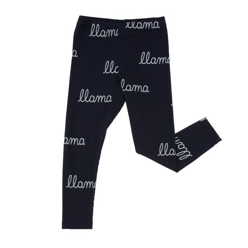 tinycottons llama words pant (darknavy/light blue)