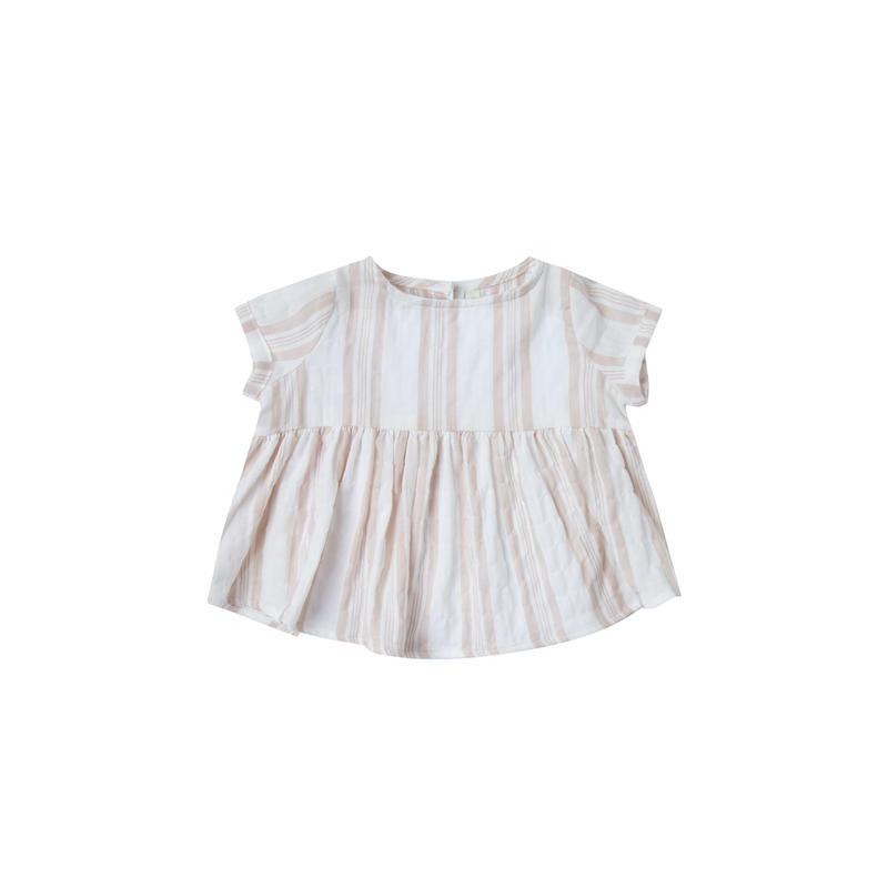 rylee+cru sand  stripe  jane  blouse