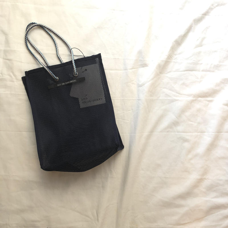 EAST END HIGLANDERS  mesh  mini   shopper(NAVY)