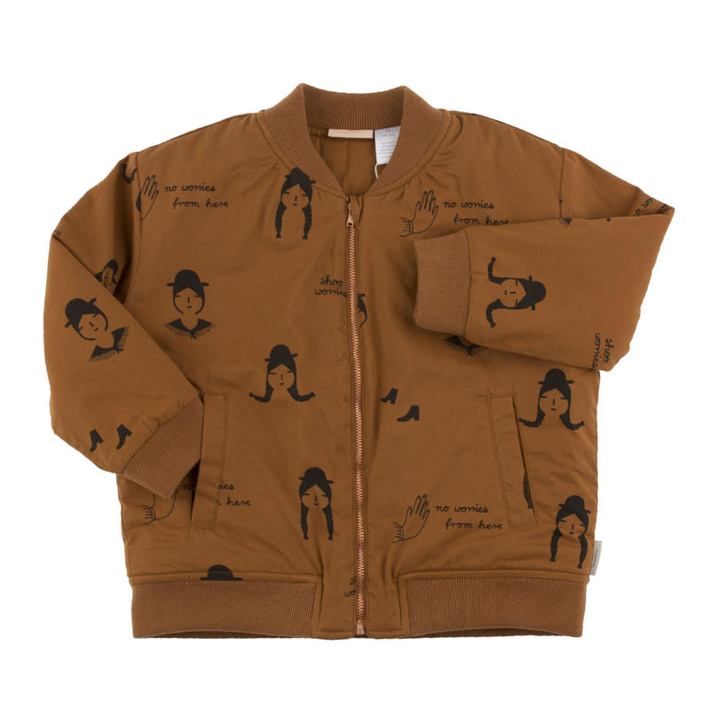 tinycottons no-worry dolls woven bomber jacket