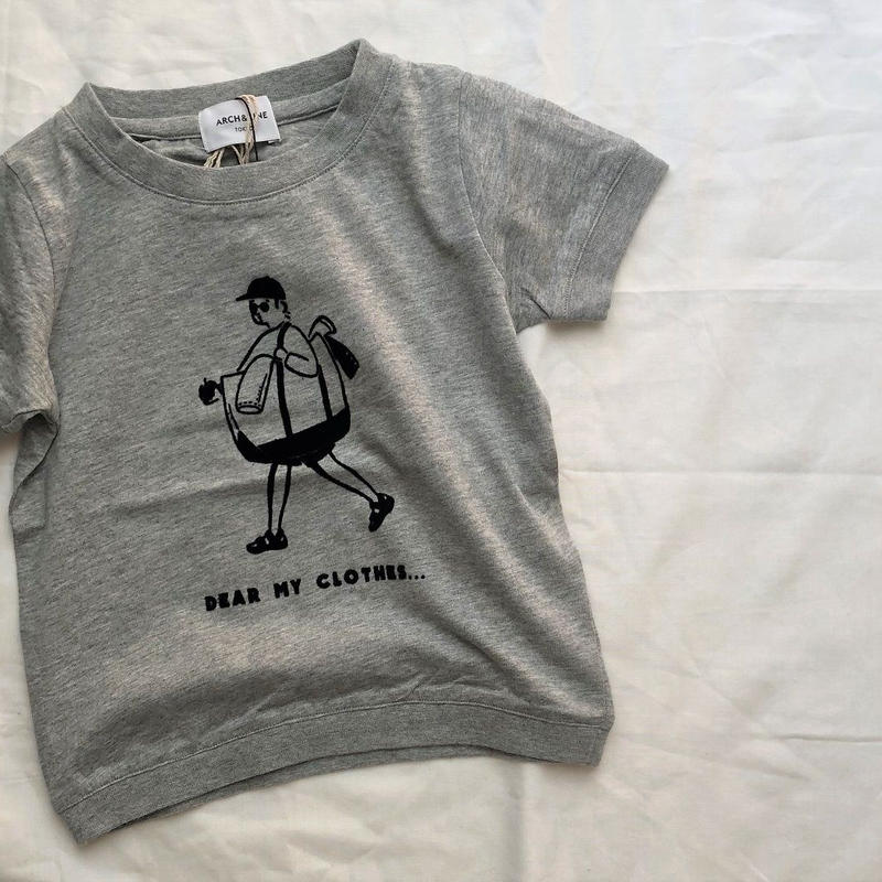ARCH&LINE OG LAUNRY MAN  TEE(GREY) kids