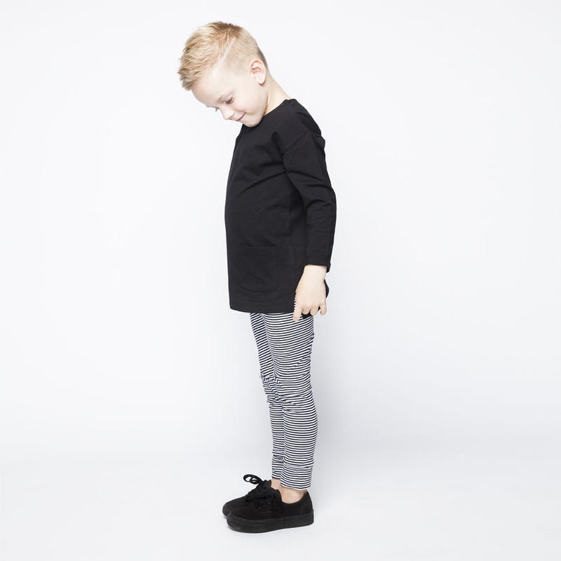 MINGO. legging (B/Wstripes)