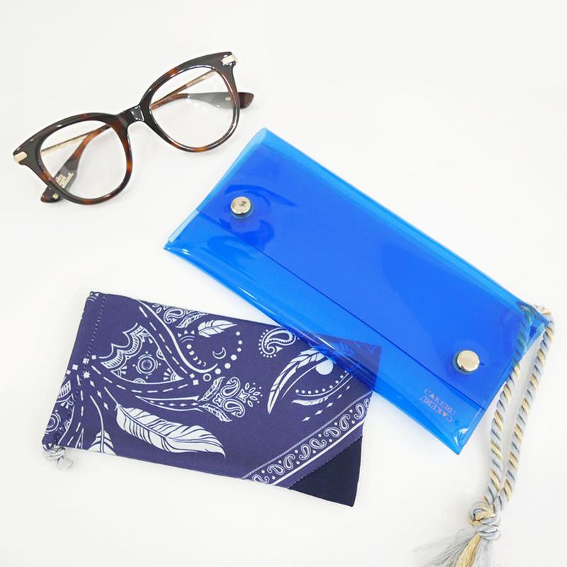 ireru-BLUE (アイウェアケース + インナーソフトケース)