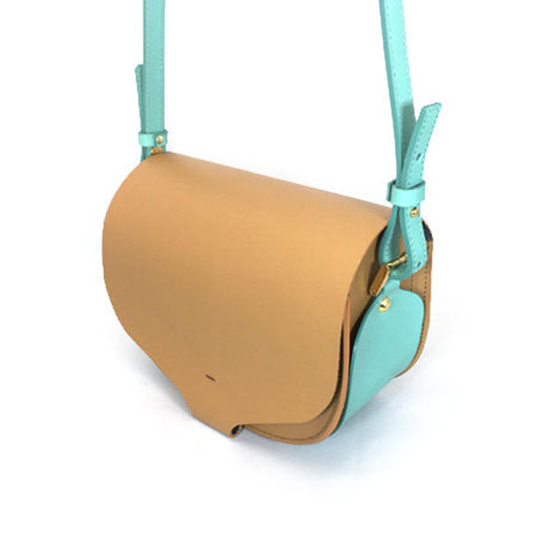 CHASSE BAG / LIGHT BROWN & SKY