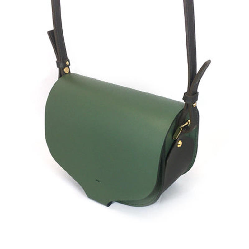 CHASSE BAG / GREEN & DARK BROWN