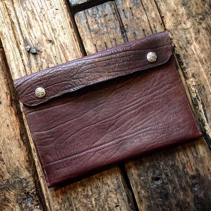 Dutch Leather Company × Japanese Silver Smith MASAYOSHI clutch bag(L)