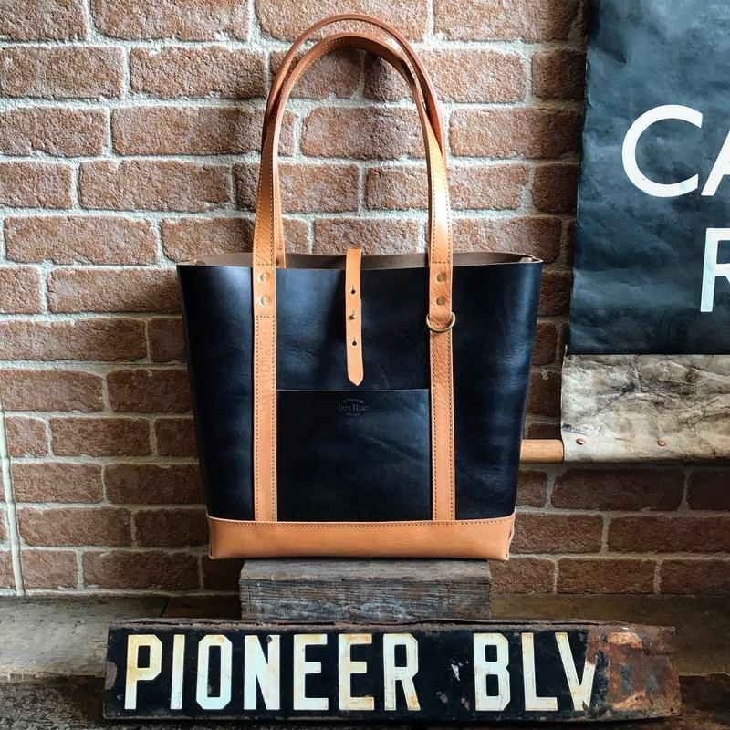 LEFT HAND TOTE BAG GRcompany別注 / 限定Horween Chromexcel BLACK×TAN