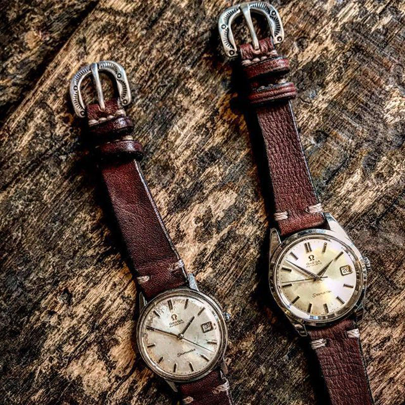 Dutch Leather Company × Japanese Silver Smith MASAYOSHI Watch belt