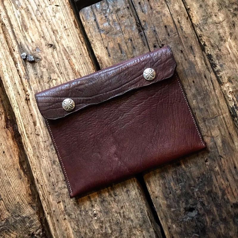 Dutch Leather Company × Japanese Silver Smith MASAYOSHI clutch bag(M)