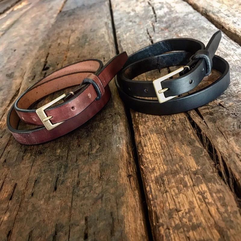 Dutch Leather Company / belt (Wax finich) 20mm
