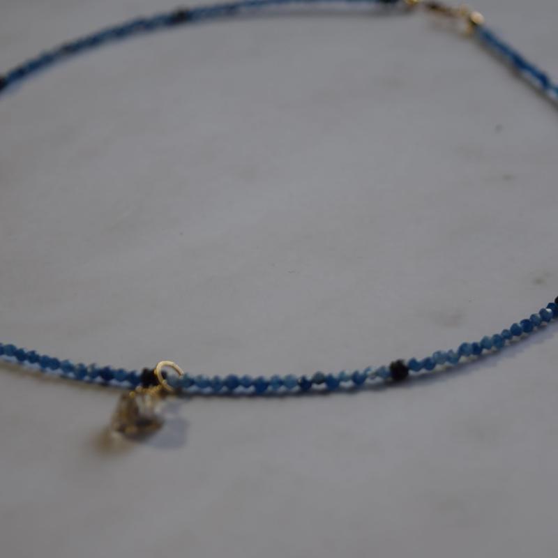 ユニセックス天然石ネックレス サファイア