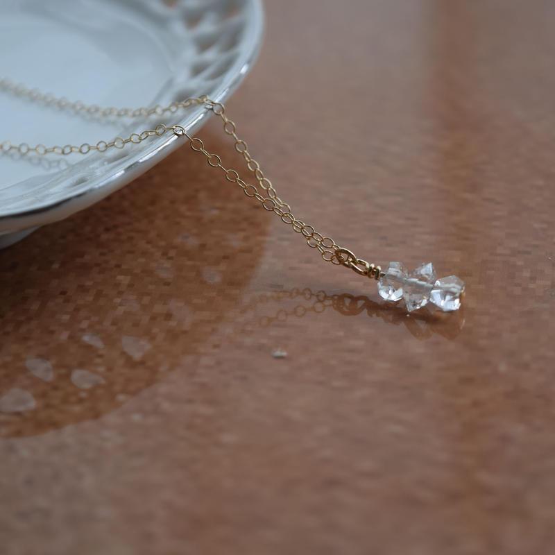 14KGFハ―キマ―ダイヤモンドネックレス
