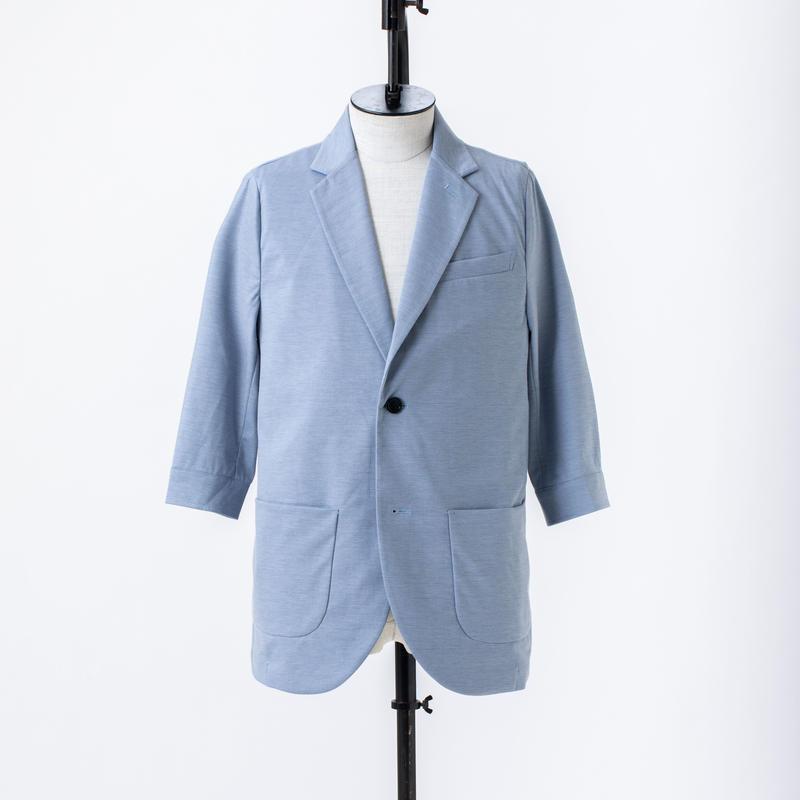 5分袖テーラードジャケット /  CALL & RESPONSE / 191-1105-05 BLU/KHA/BLK