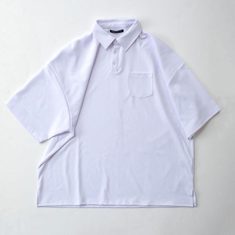 梨地BIGポロシャツ BL69428 WHT/BEG/BLK