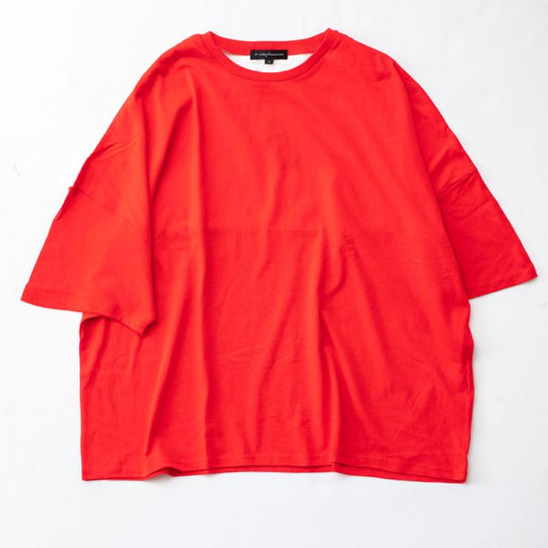 ワイド切替カットソー BB926-002 WHT/RED/BEG/GREEN/BLK