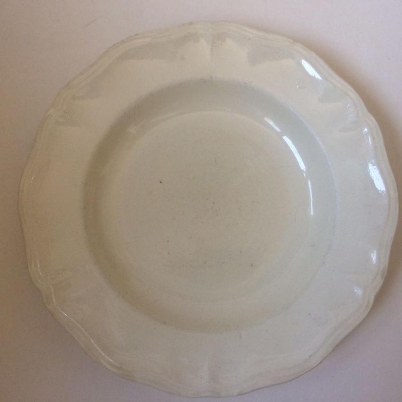 1920年代 サルグミンヌ アシエット スープ皿 花リム  1