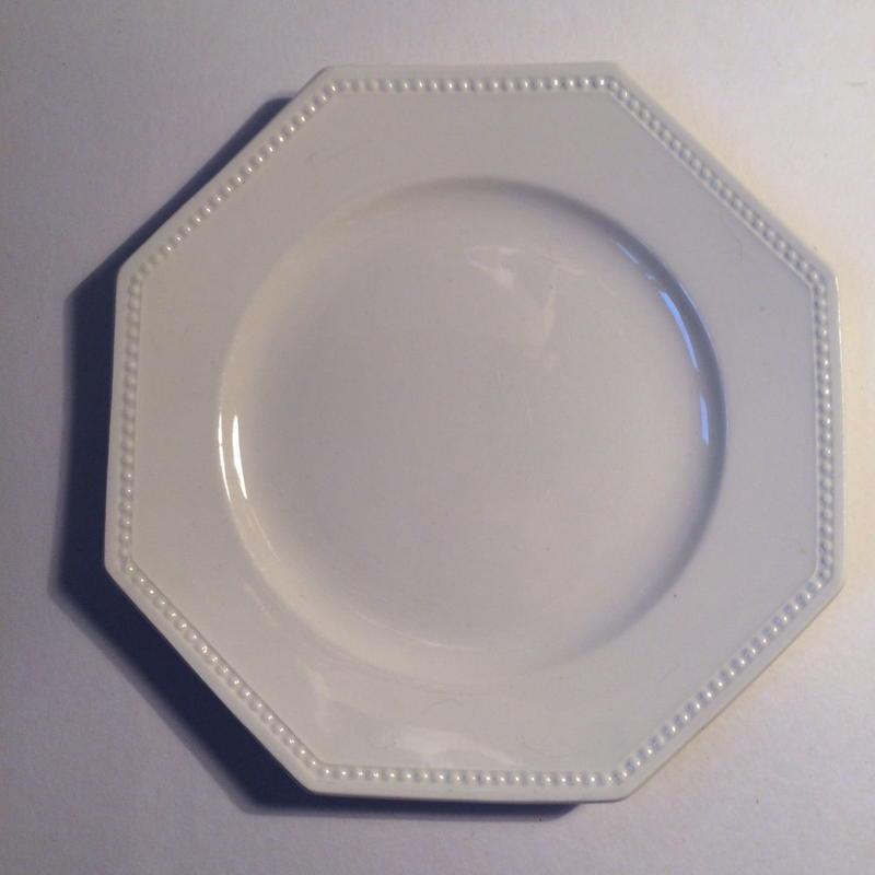 1920年代 サルグミンヌ デザートプレート オクトゴナル クリーム色 10