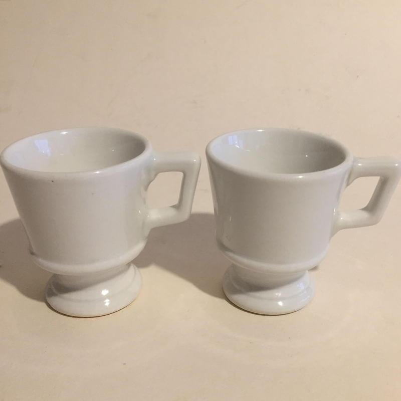 ドゥミ・タス ブリュロ エスプレッソ・カップ 陶器 白 2個セット