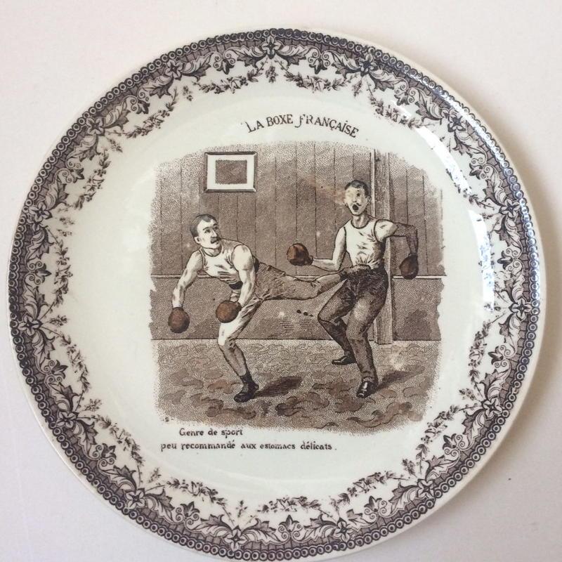 19世紀 サルグミンヌ おしゃべりなお皿 スポーツ フレンチ・ボクシング