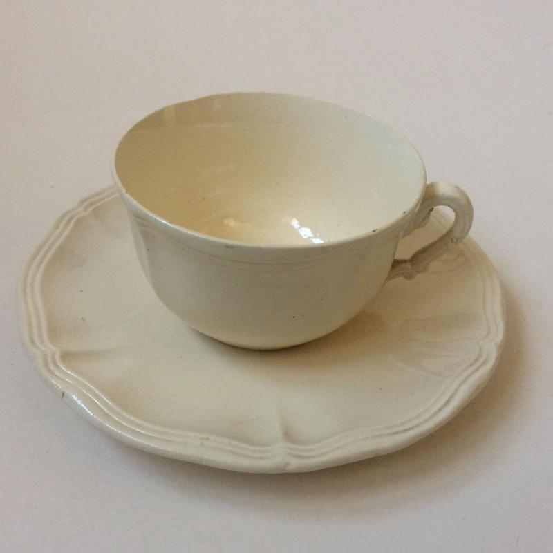 1920年代 ディゴワン サルグミンヌ ティーカップ&ソーサー 花リム 3
