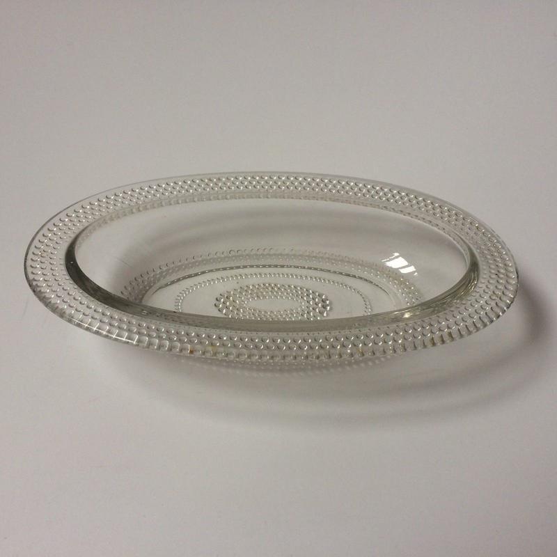 1950年代 ラヴィエ オードブル皿 ガラス製 パールスカラップ 業務用