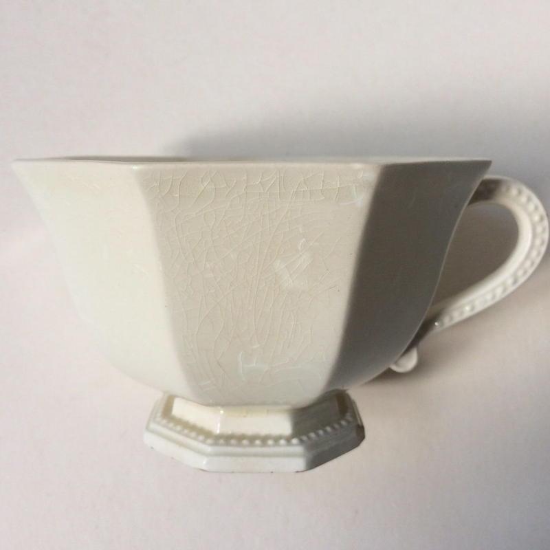 19世紀 モントロー カップ タス オクトゴナル パールリム 2