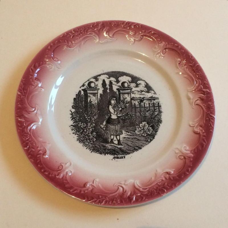19世紀 ペクソンヌ おしゃべりなお皿 デザートプレート バルボティーヌ 7月