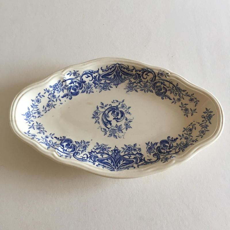 19世紀 ロンシャン ラヴィエ オードブル皿 アラミス 小花柄