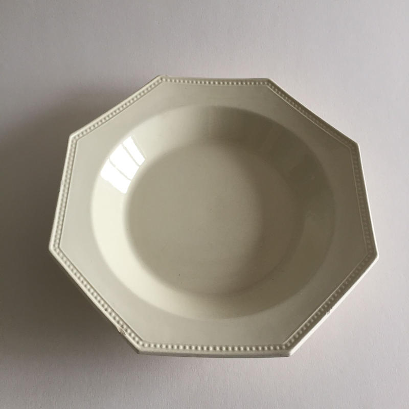 19世紀前半 モントロー オクトゴナル パールリム スーププレート 深皿 1