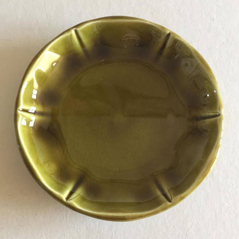 1960年代 ジアン 豆皿 カーキ
