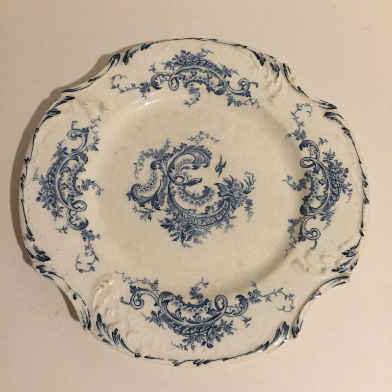 19世紀 1875年 ジアン グラン・デポ ディナー・プレート  レリーフ 2