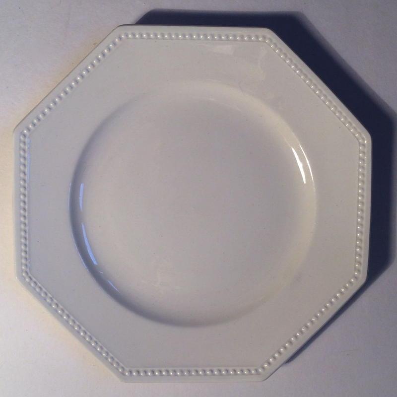 1920年代 サルグミンヌ デザートプレート オクトゴナル クリーム色 11