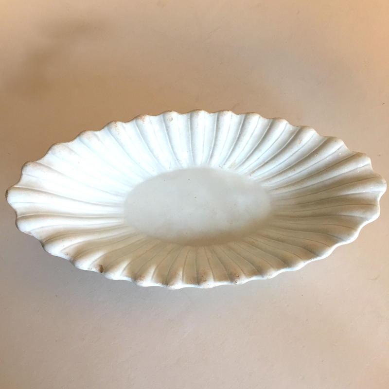 19世紀 アルボア ローヌ ラヴィエ オードブル皿 レリーフ 白