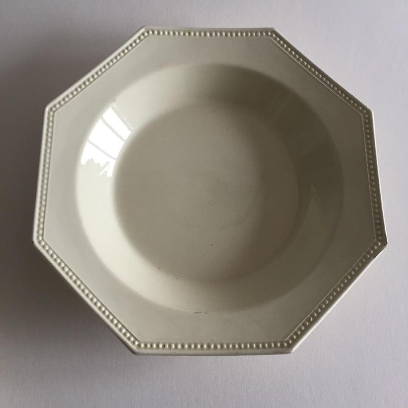 19世紀前半 モントロー オクトゴナル パールリム スーププレート 深皿 2