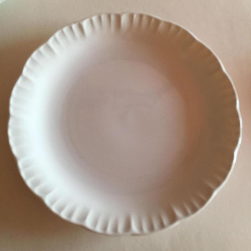 1920年代  ディゴワン=サルグミンヌ ディナー・プレート 平皿  フリル ・プレート 白