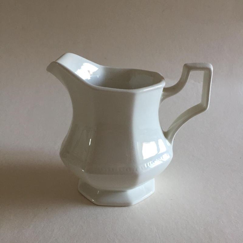1970年代 ジョンソン・ブラザーズ ポタレ ミルク・ポット オクトゴナル 白