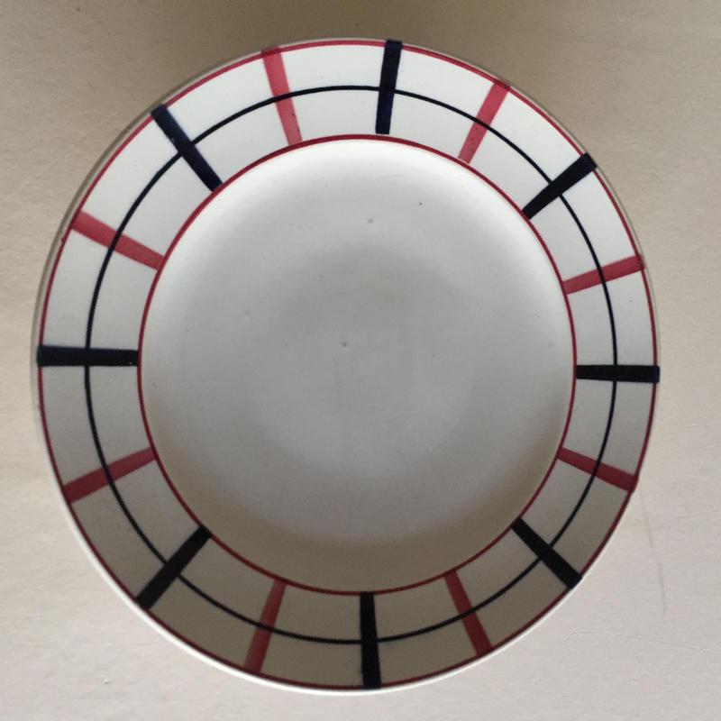 1930年代  サンタマン ケーキ・プレート ルー・バスク チェック