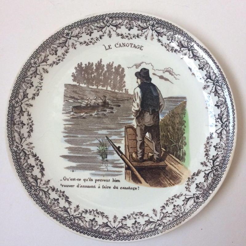 19世紀 サルグミンヌ おしゃべりなお皿 スポーツ ボート