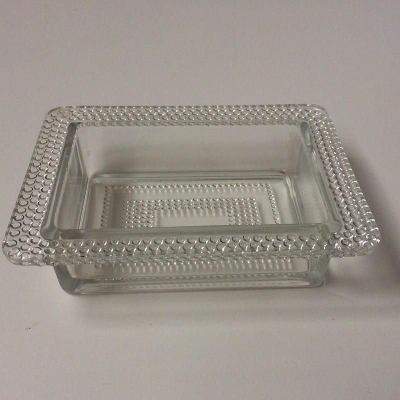 1950年代 ブーリエ バター皿 ガラス製 パールスカラップ 業務用
