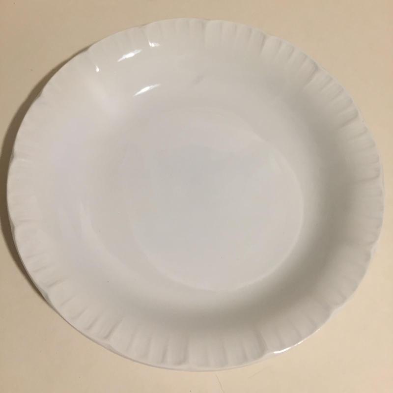 1920年代 ディゴワン サルグミンヌ スープ・プレート 深皿 フリル 白