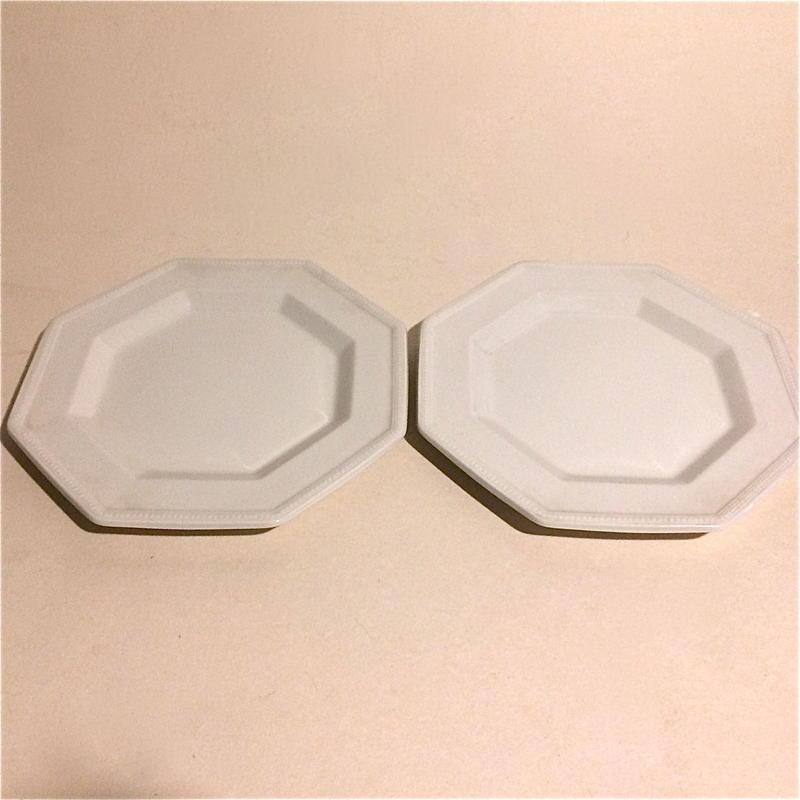 1970年代 ジョンソン・ブラザーズ ヘリタージュ・ホワイト オクトゴナル デザート・プレート 小皿 2枚セット