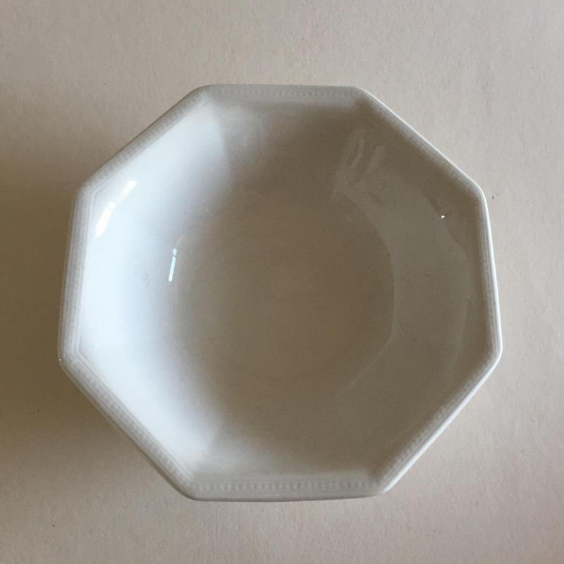 1970年代 ジョンソン・ブラザーズ ボウル(Mサイズ) オクトゴナル 白