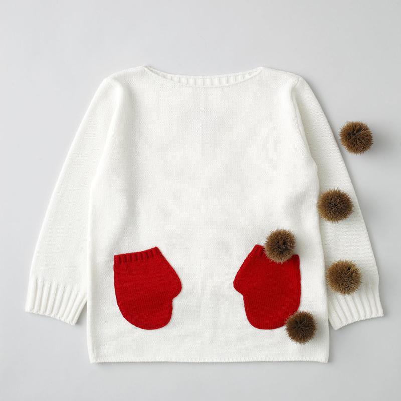 """friendly knit"" mitten sweater red"