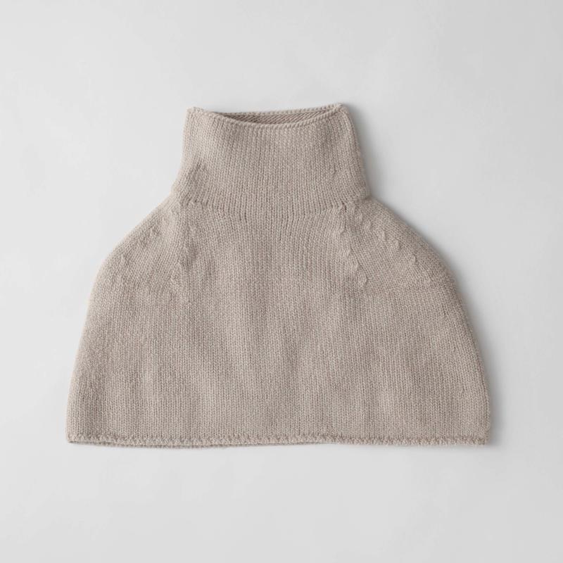 """""""friendly knit"""" botanical dye cape"""